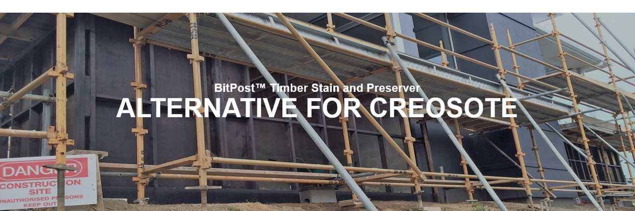 BitPost Timber Stain and Preserver alternative for creosote