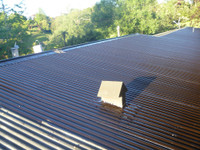 Roof GilsoFlex painted over with ClimoPlate Top Coat