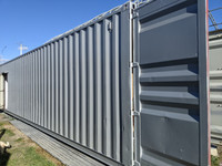 Shipping containers painted with ClimoPlate Aluminum Silver
