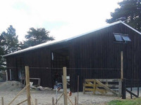 biosymph - timber barn stained with BitPost Timber Stain and Preserver