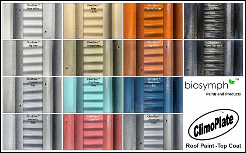 ClimoPlate Top Coat Colour Chart