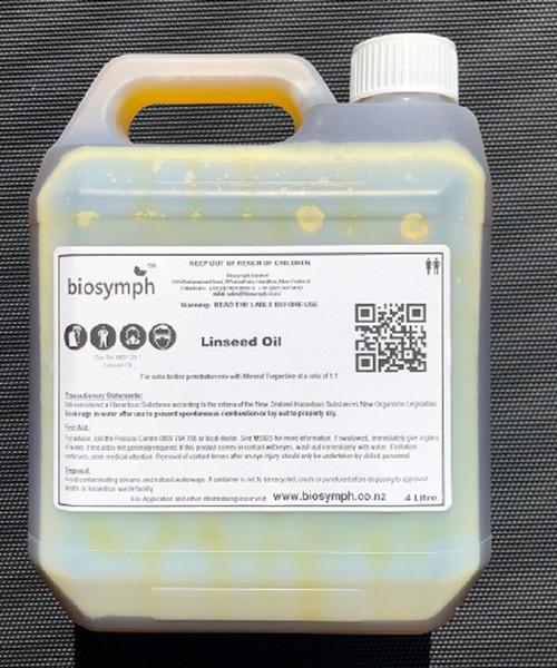 Biosymph Ltd - 4ltr Raw Linseed Oil
