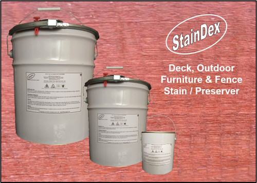 StainDex deck, outdoor furniture and fence stain & preserver