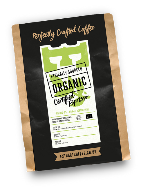 Organic speciality coffee approved by the soil association