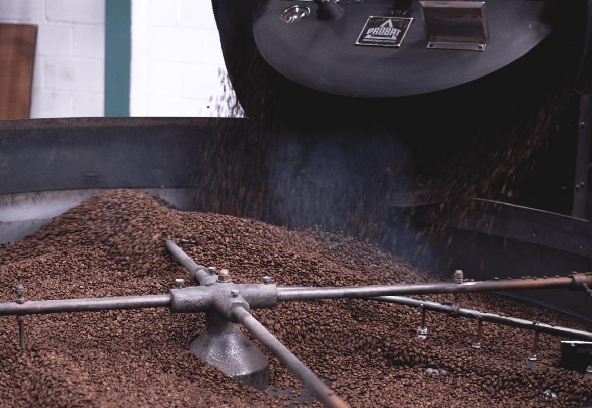 Bertha Probat Coffee Roaster restored by Extract Coffee Roasters
