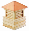 Good Directions Cypress Dover Shiplap Base Cupola - 60in. square x 85in. high