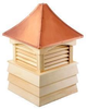 Good Directions Cypress Sherwood Shiplap Base Cupola - 60in. square x 92in. high