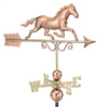 Good Directions Galloping Horse Weathervane – Polished Copper