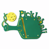Pickleball Plaque (3D Style) Green/Yellow