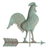 "Rooster Weathervane  by Whitehall 20"" Copper - Verdigris"