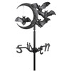 "Whitehall 17.5"" Halloween Bat Weathervane w/Garden pole mount- Black"