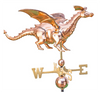 Weathervane - 3D Dragon - Polished Copper
