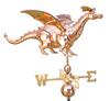 Weathervane - 3D Dragon - Polished Copper