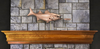 Bass With Lure Mantel Weathervane