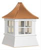 Cupola - Victorian Shed: Azek – Windowed Pagoda Copper Top - 16Lx16Wx18H