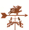 Flying Pig Weathervane With Mount