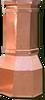 Copper Chimney Pot - Octagon 18 in. x 42 in.