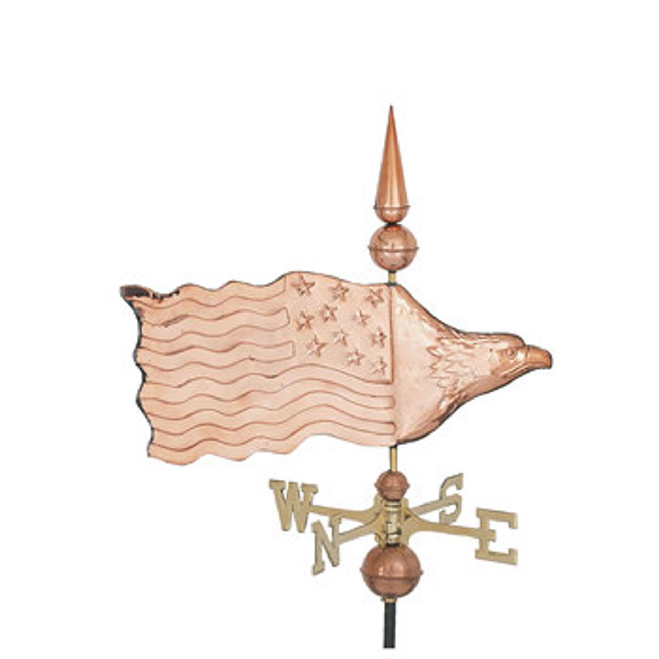 Weathervane - Polished - Eagle Flag