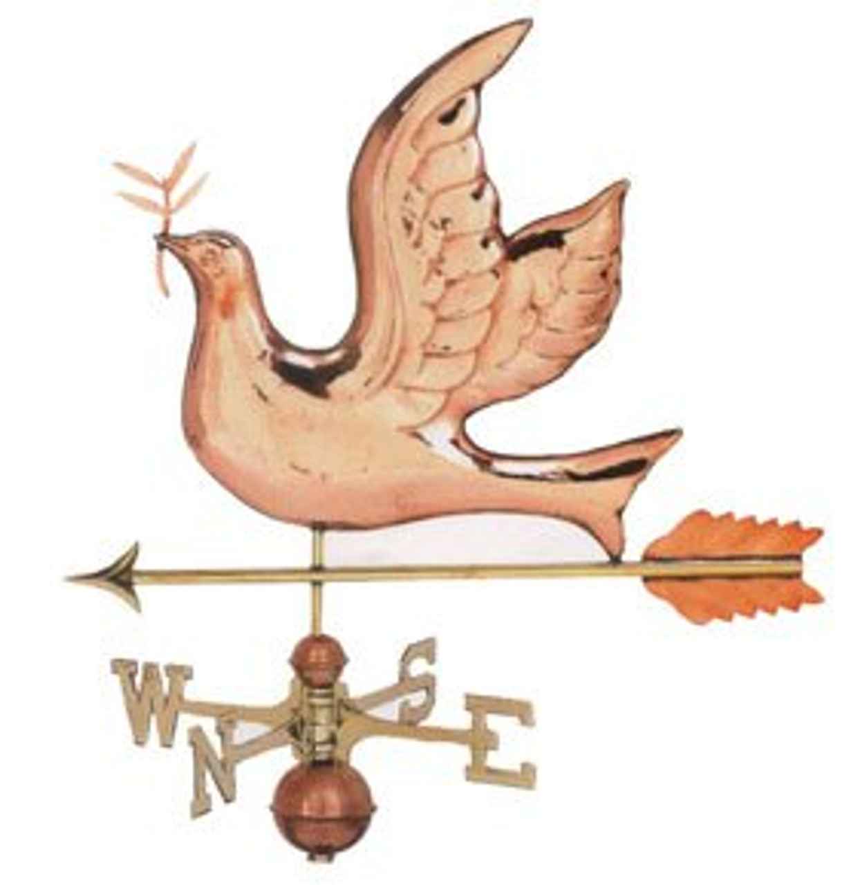 Weathervane - Polished - Peace Dove
