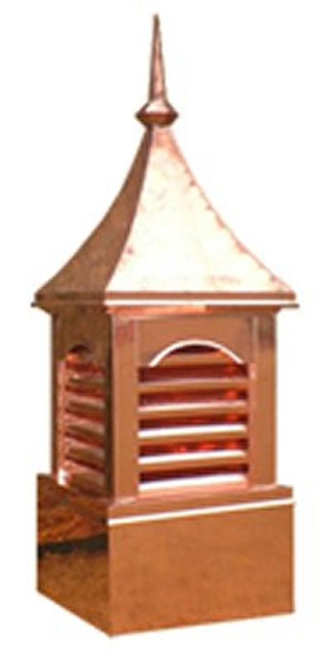 Custom Copper Cupola - Six Vent Curve Top 24 in.x70