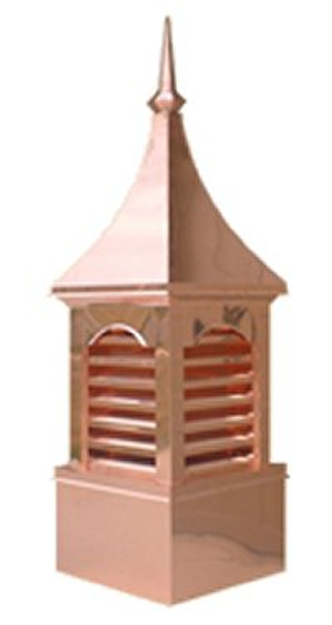 Custom Copper Cupola - Seven Vent Curve Top 24 in.x78