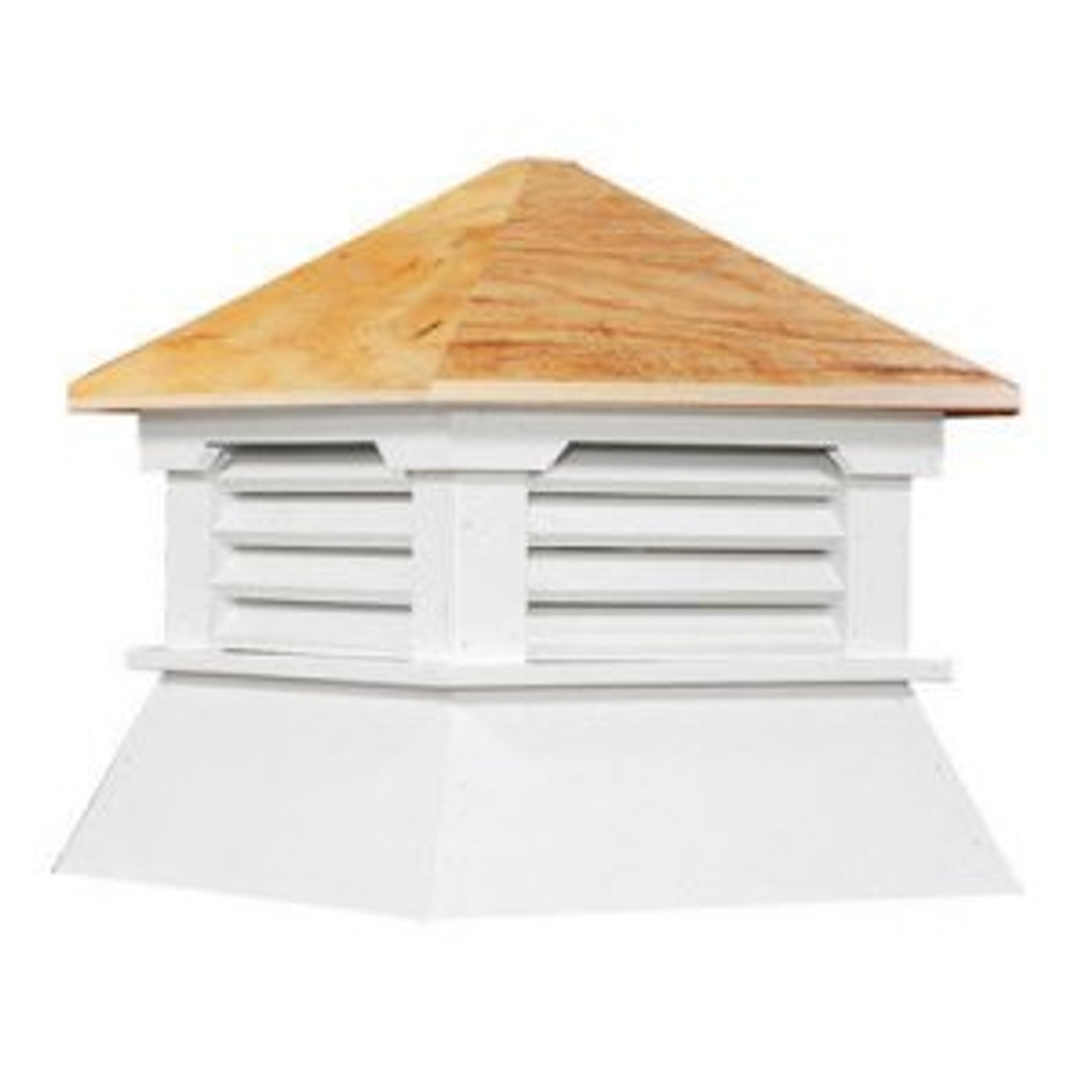 Cupola - Classic Shed: Azek - Plywood Top - 16Lx16Wx18H