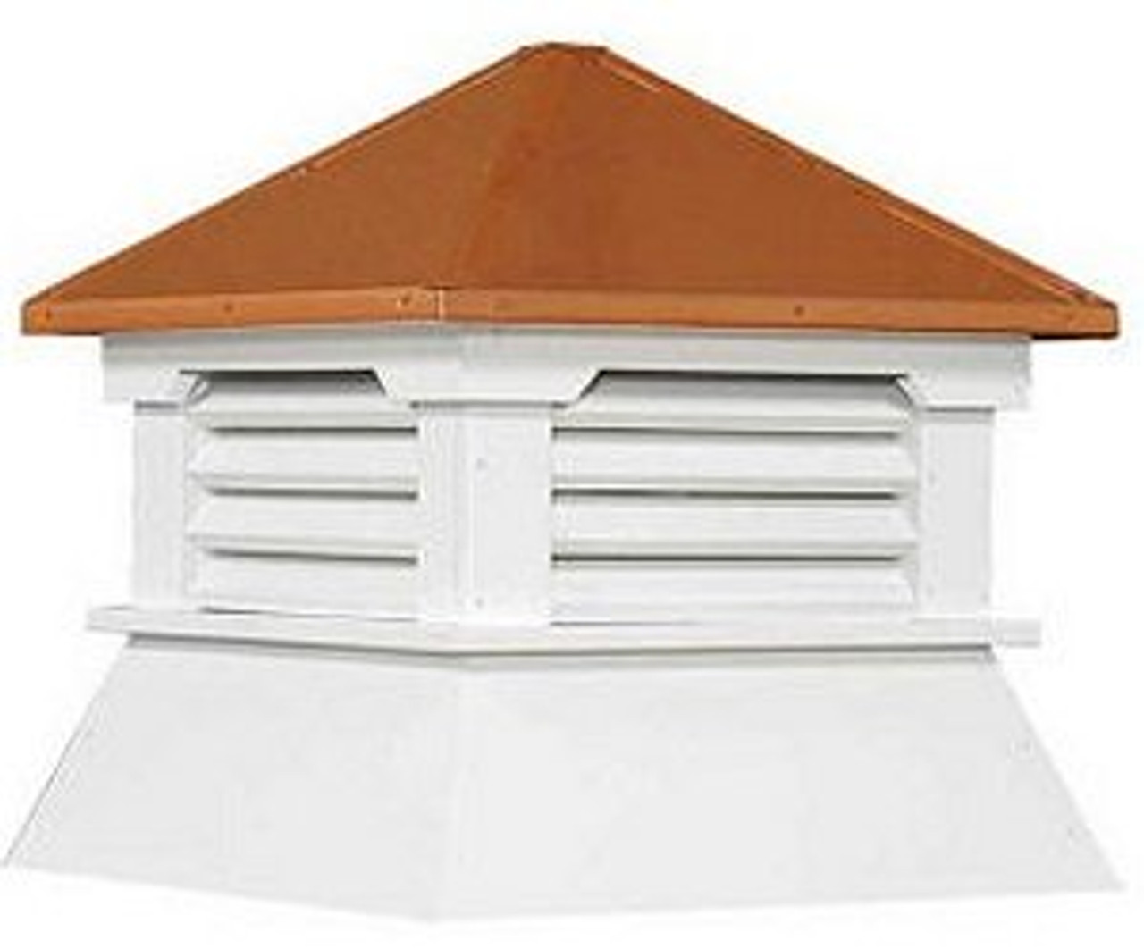 Cupola - Classic Shed: Azek - Copper Top - 25Lx25Wx30H