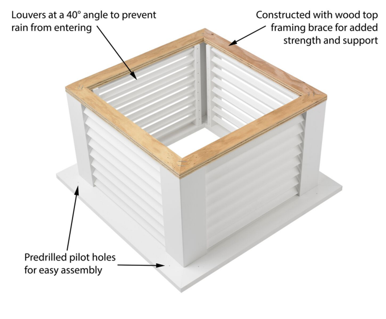 Good Directions Vinyl Sherwood Shiplap Base Cupola - 42in. square x 62in. high