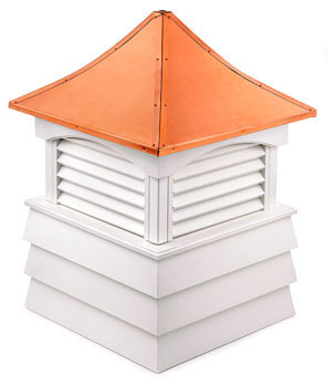 Good Directions Vinyl Sherwood Shiplap Base Cupola - 54in. square x 81in. high