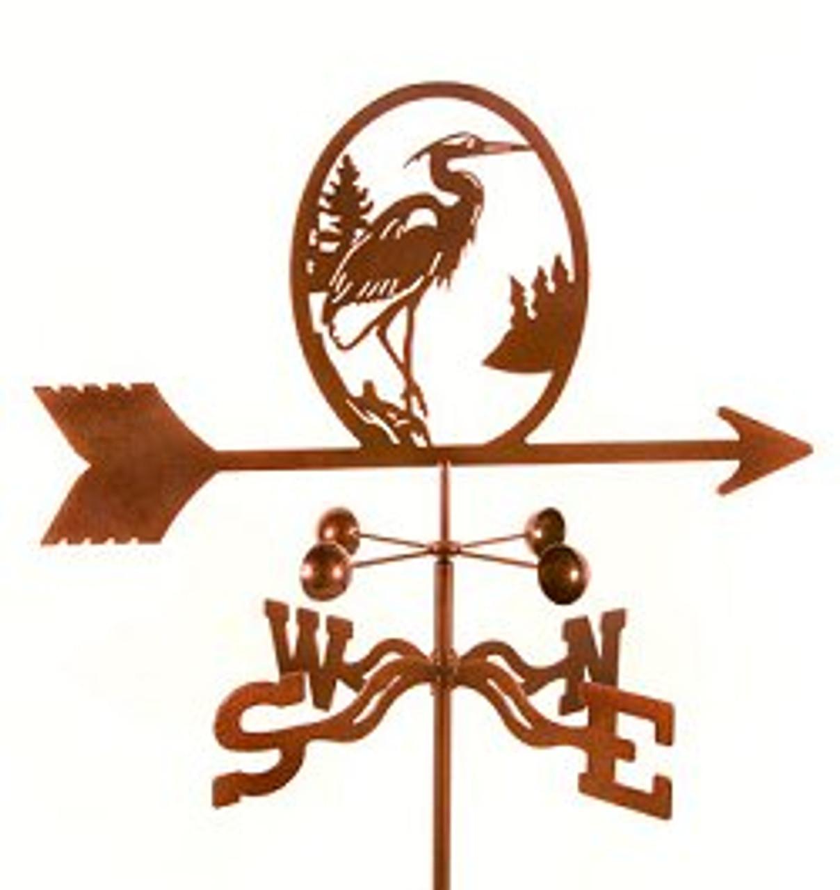 Bird-Heron Weathervane with mount