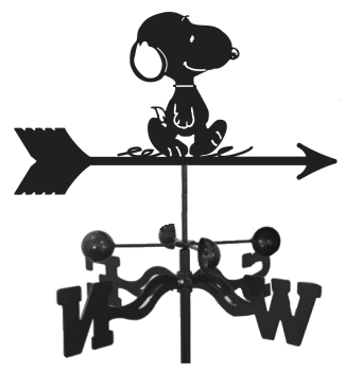 Snoopy - Dog Weathervane With Mount