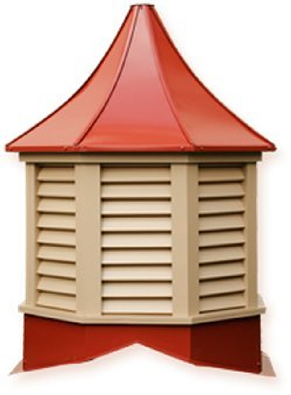 "Cupola - Sundance: Azek - Salem - Louvered 42"" Oct. x 68"" High"