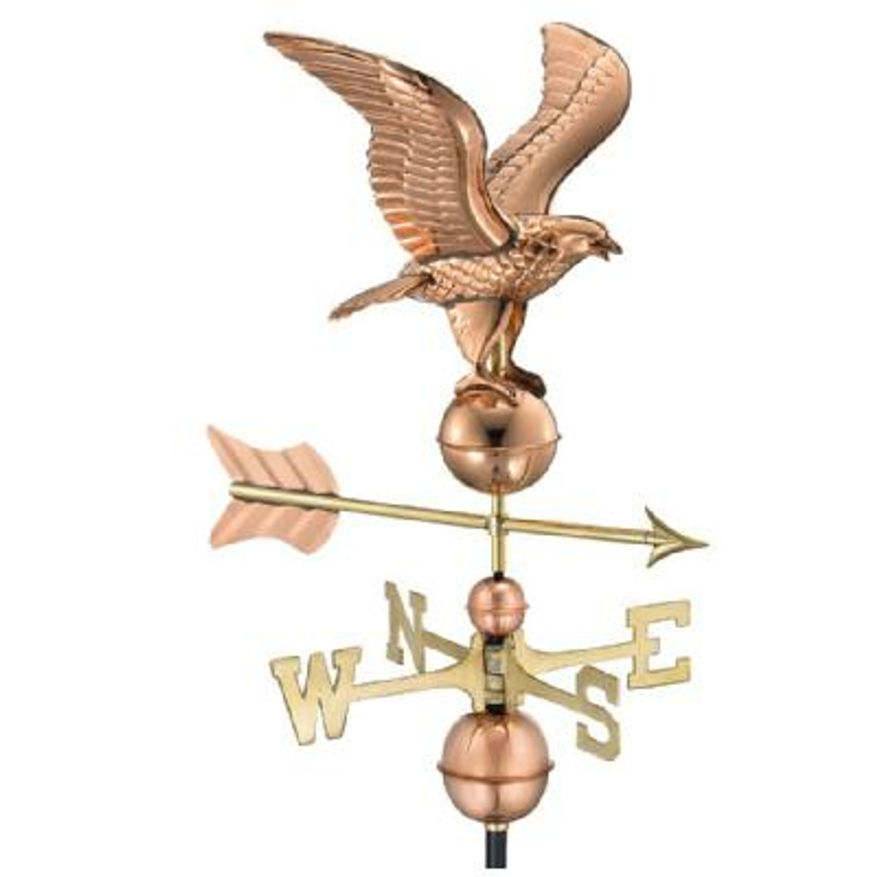American Eagle Weathervane - Polished Copper by Good Directions