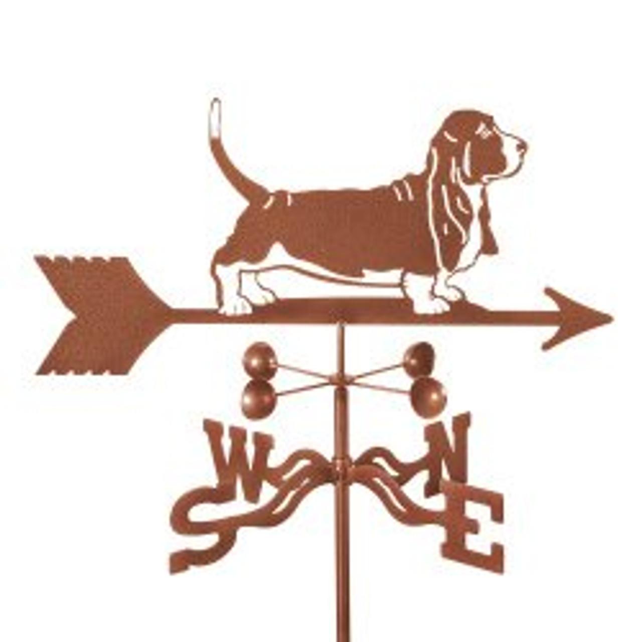 Dog-Basset Hound Weathervane with mount