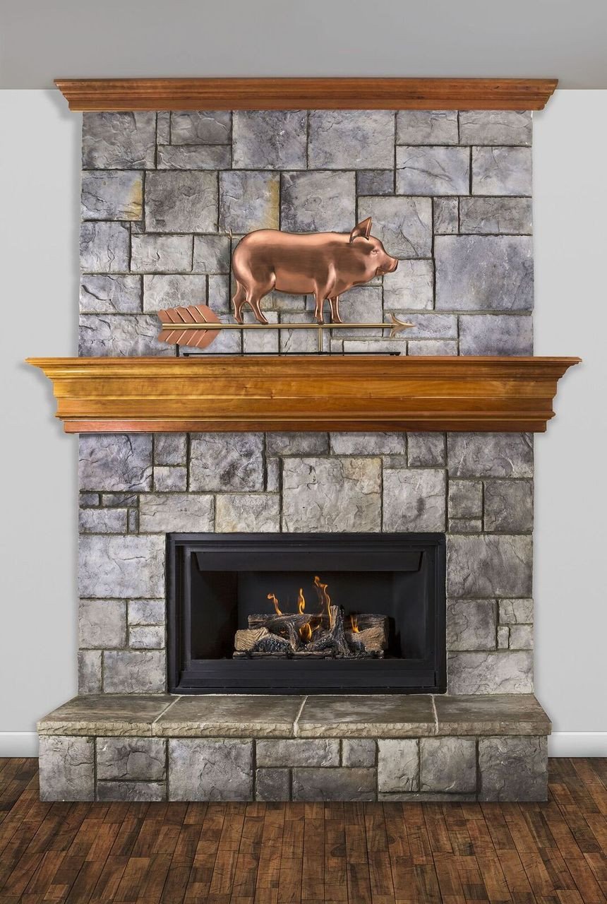 Country Pig  Mantel Weathervane