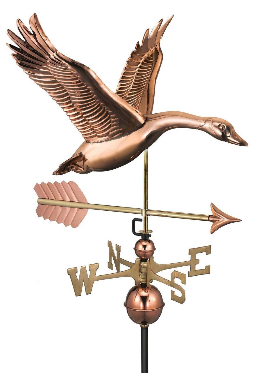 Feathered Goose with Arrow Weathervane
