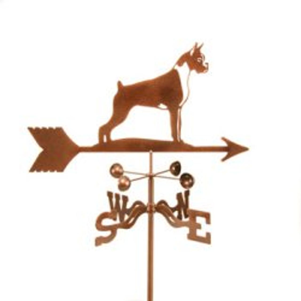 Dog-Boxer  Weathervane with mount