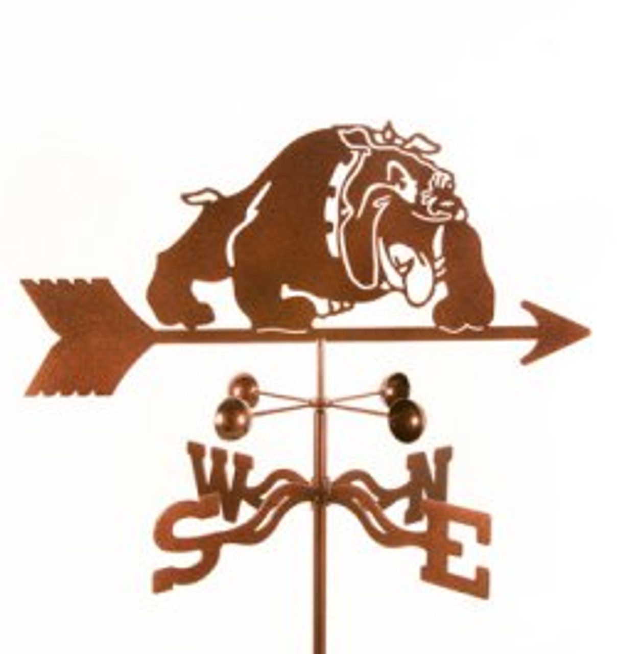 Dog-Bulldog  Weathervane with mount