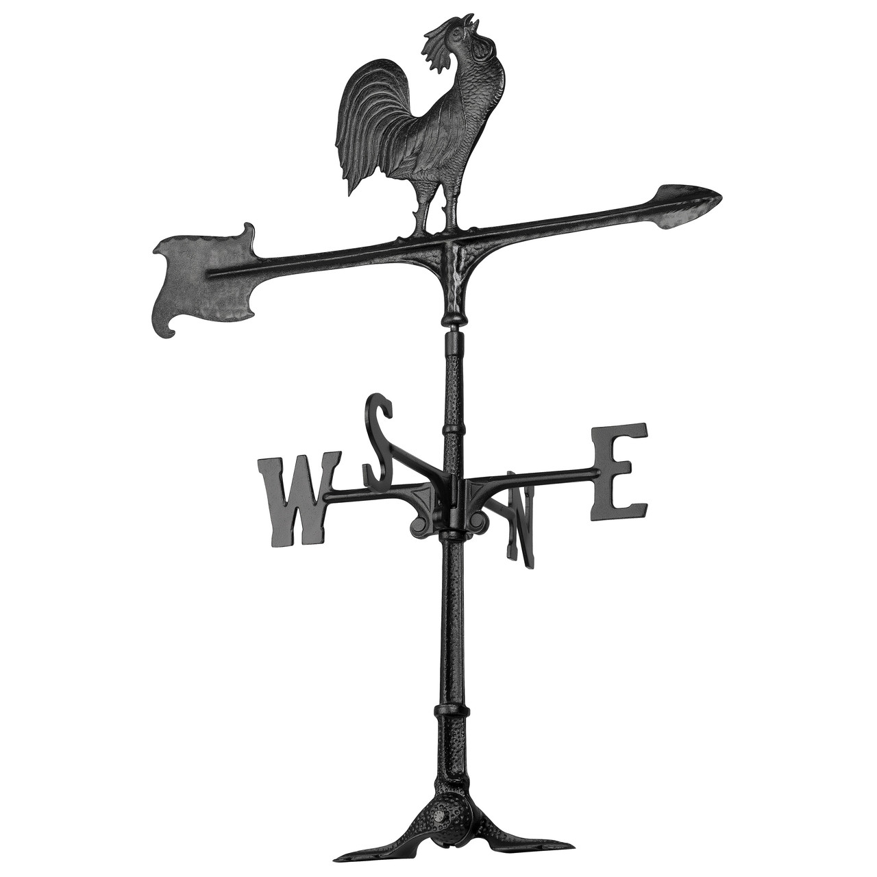 "Accent Rooster Weathervane by Whitehall 30""  - Black"