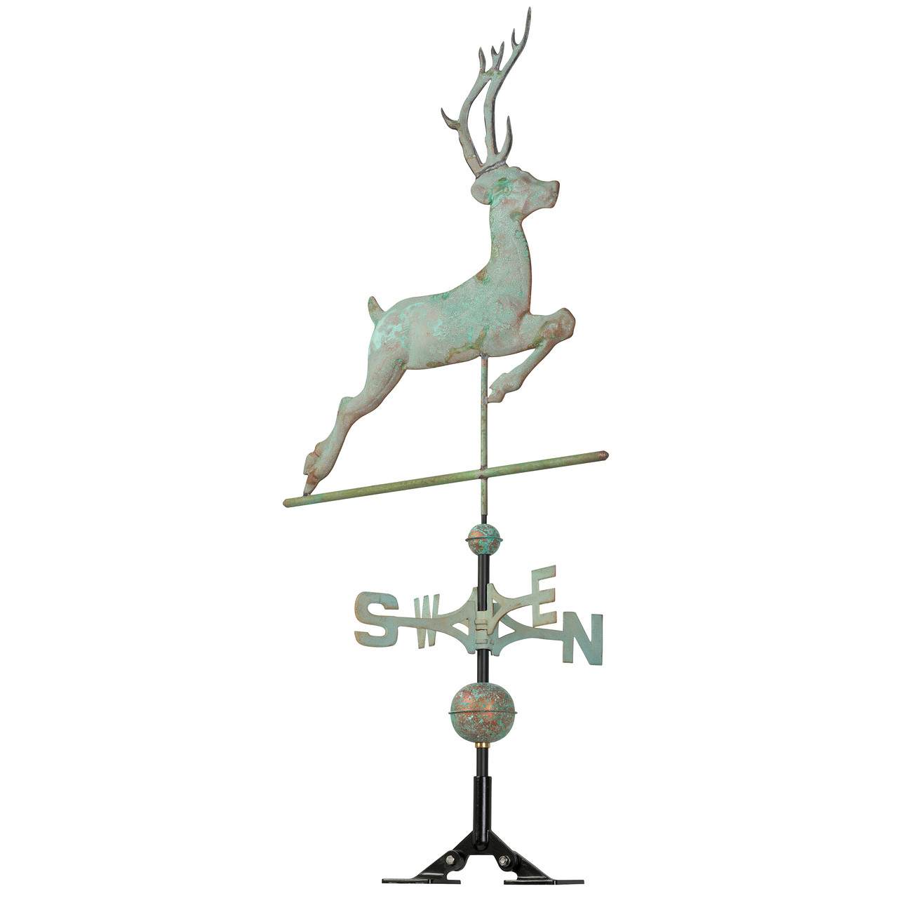 "Whitehall 26"" Copper Deer Weathervane - Verdigris"