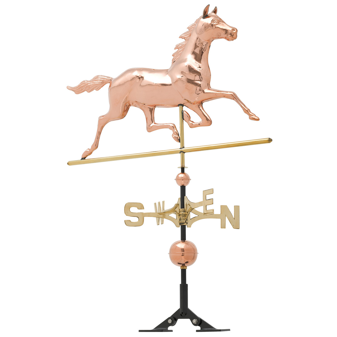 "Whitehall 34"" Copper Horse Weathervane - Polished"
