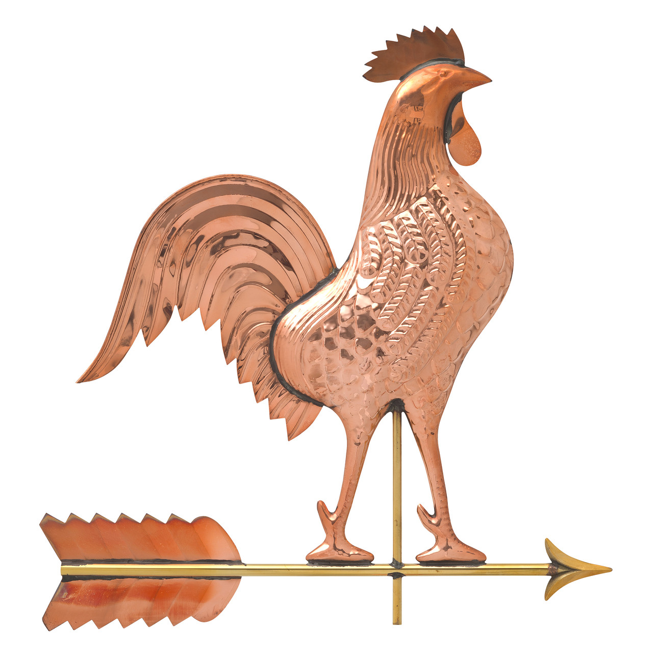 "Rooster Weathervane  by Whitehall 20"" Copper - Polished"