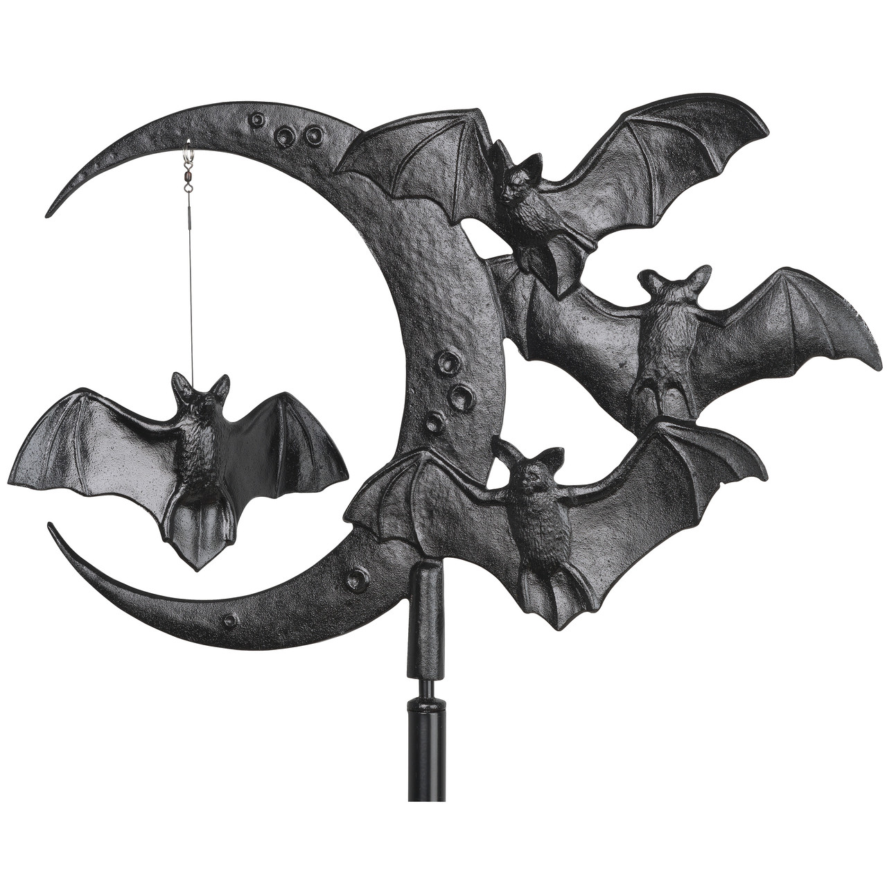 "Whitehall 17.5"" Halloween Bat Weathervane w/Rooftop mount – Black"