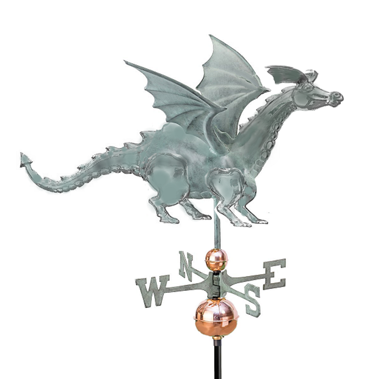 Weathervane - 3D Dragon - Antiqued Copper