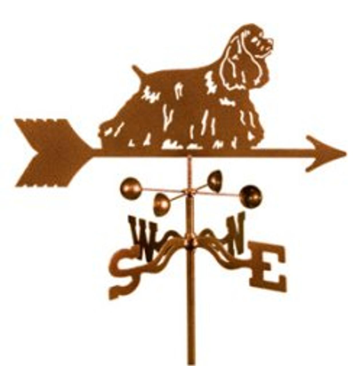 Dog-Cocker Spaniel Weathervane with mount