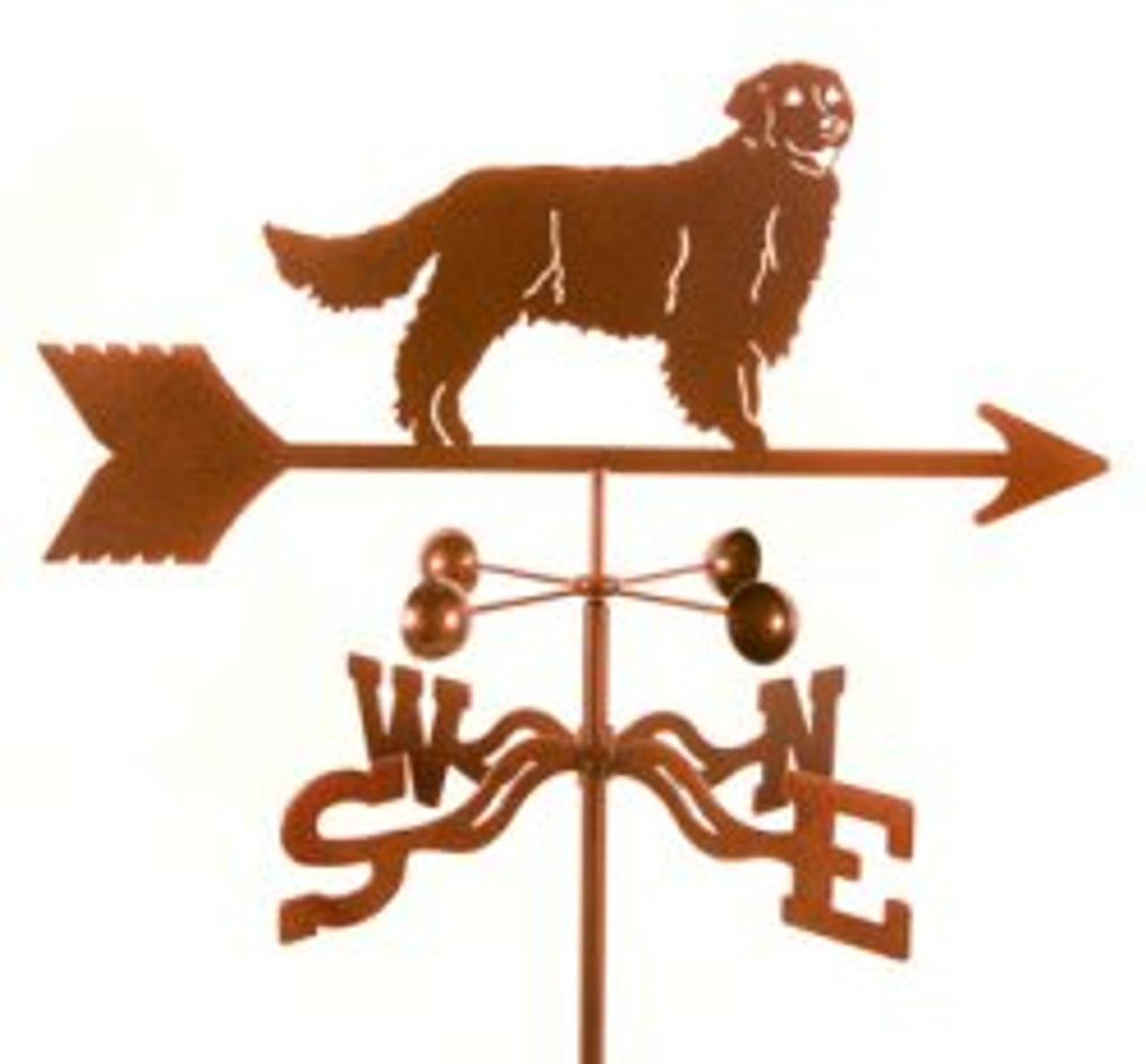 Dog-Golden Retreiver Weathervane with mount