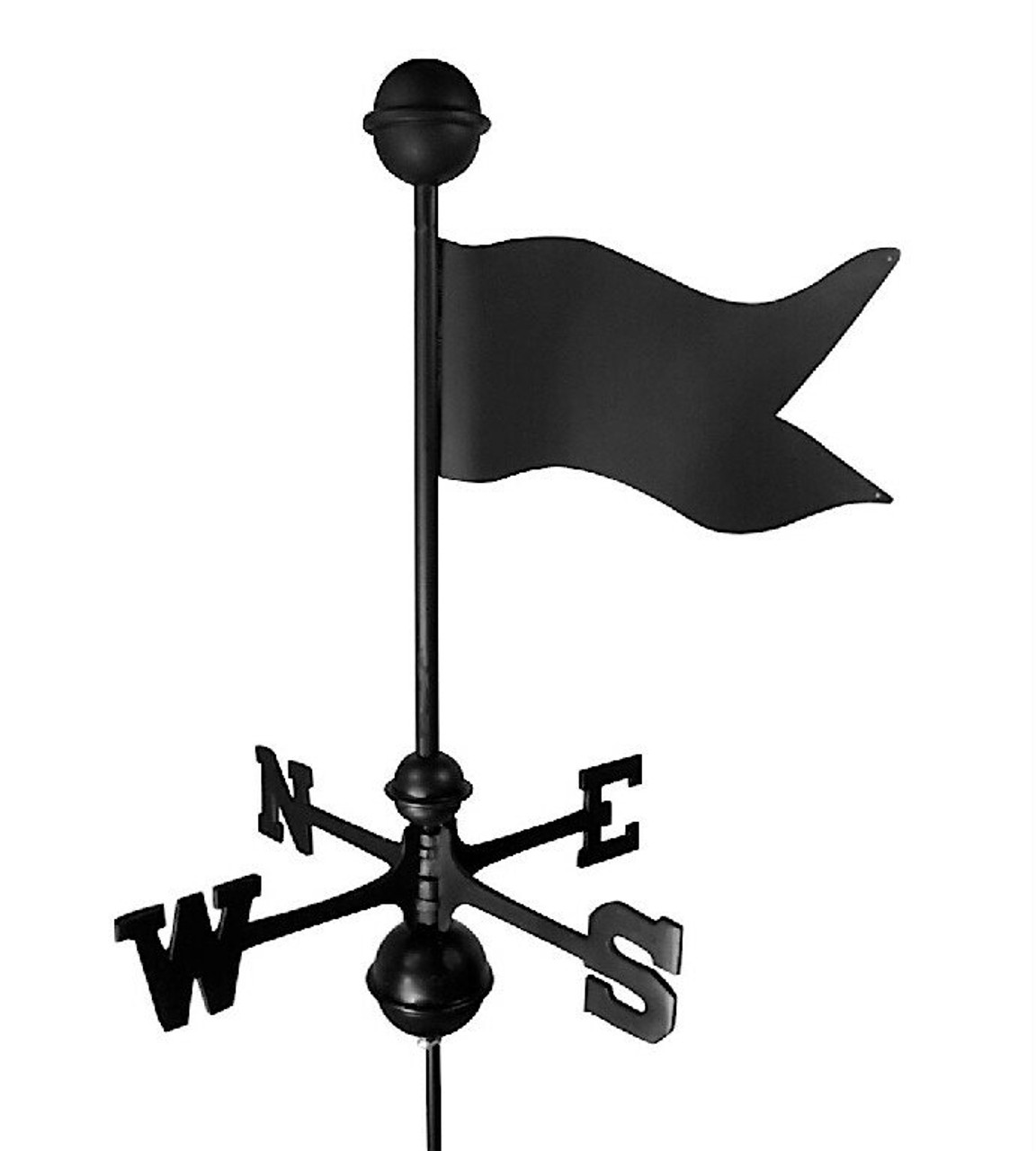 Banner Small Black Aluminum with Traditional Directionals