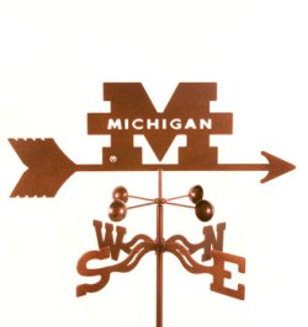 Michigan Wolverines Logo Weathervane with mount