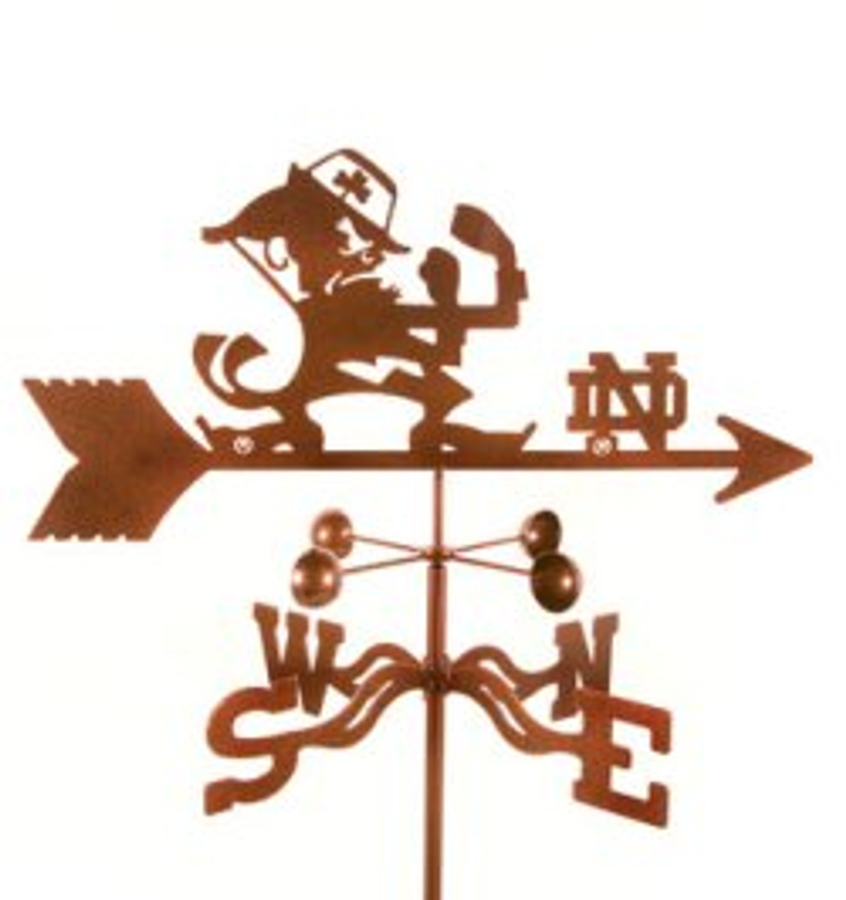 Notre Dame Fighting Irish Logo Weathervane with mount