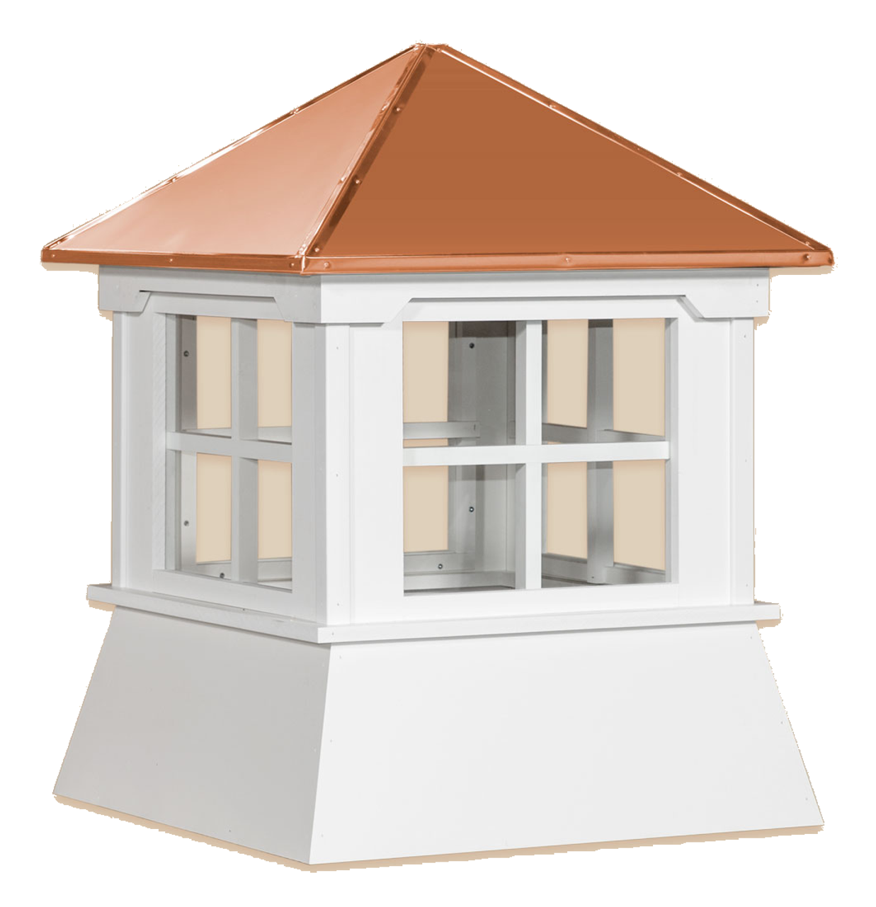 Cupola - Manor Shed: Azek – Windowed Copper Top - 30Lx30Wx36H